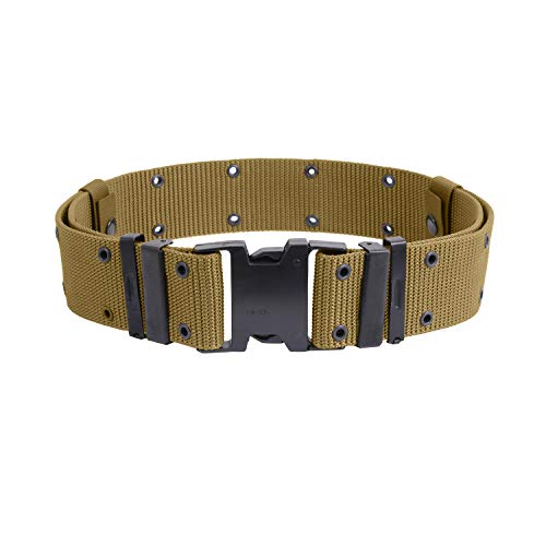 Rothco New Issue Marine Corps Style Quick Release Pistol Belts, Coyote Brown, M ()