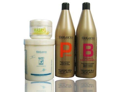 Salerm Protein Shampoo 18oz & Balsam Conditioner 17.3oz Duo