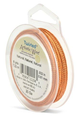 Artistic Wire 20 Gauge Twist, Round, Natural, - Natural Twisted