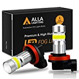 Alla Lighting 2800lm Xtreme Super Bright H11 LED Bulbs Fog Light High Illumination COB-72 LED H11 Bulb H8 H16 H11 Fog Lights Lamp Replacement - 6000K Xenon White: more info