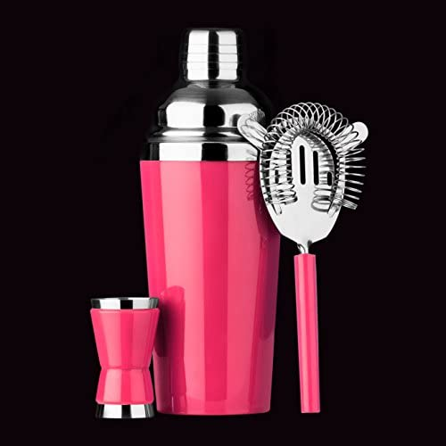 Premier Housewares Cocktail Set, Hot Pink by Premier Housewares