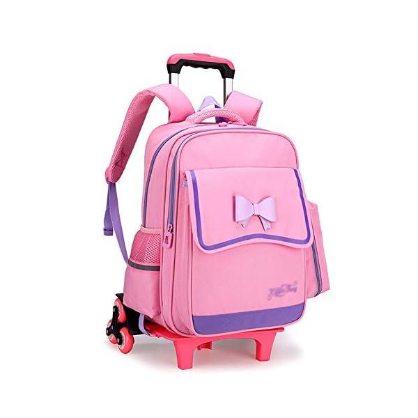 LUONE Bambini Zaino Trolley, Salire Le Scale Sei turni Trolley Schoolbag ad Alta capacità Zaino Estraibile Daypacks… 1 spesavip