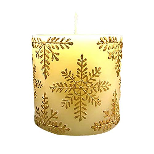 Silicone Candle Mold 3D Round Cylinder with Classical Relief Handmade Craft Mould