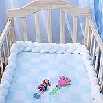 EASTSURE-Baby-Crib-Bumper-Knotted-Braided-Plush-Nursery-Cradle-Decor-Newborn-Gift-Pillow-Cushion-Junior-Bed-Sleep-Bumper-White-39