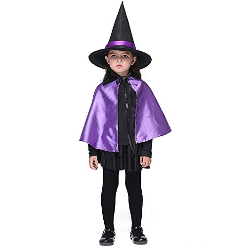 Uleade Kids Girl Witch Halloween Costume Child Witch
