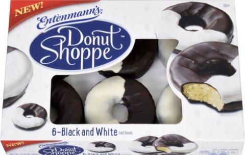 Entenmann's Black & White Iced Donuts -