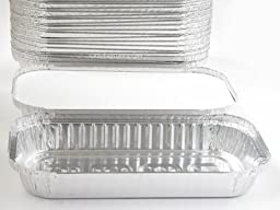 Disposable Aluminum 3 lb. Oblong Pan with Board Lid #110L (50)