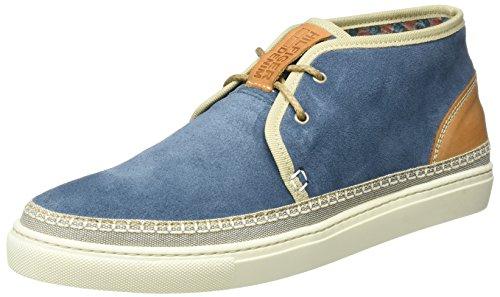 Tommy Hilfiger H2385ood 2b, Scarpe da Ginnastica Alte Uomo Blu (Jeans 013)