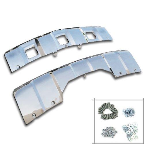 Spec-D Tuning SKD-X16407-NB Mercedes-Benz x164 GL320/350/450 Chrome 2PC Front+Rear Bumper Skid Plate Kit