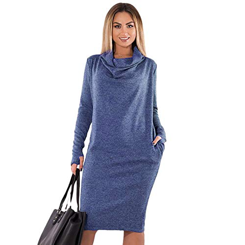 21ee6dc03b8 SODIAL Plus Size Autumn Winter Solid Dress Woman Office Dress Women Large  Size Female Party Dress
