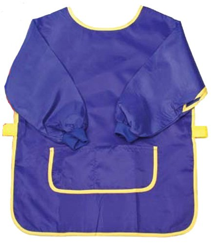 Creative Hobbies¨ Long Sleeve Art Smock With Front Pockets & Velcro Straps -Small Size for Kids up to Age 5 -Colors