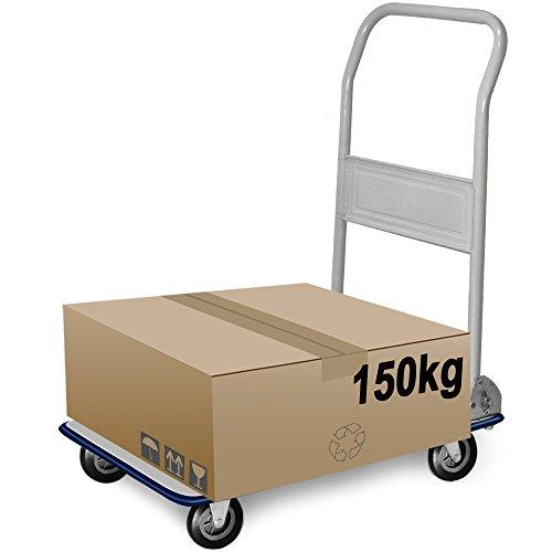 Chariot-de-transport-diable-platforme-pliable-150kg-Roues-en-caoutchouc