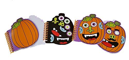 Halloween Decorate-a-Pumpkin Notepads - Set of 24 (Oriental Trading Halloween Stickers)