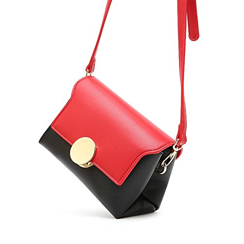 Wide Hit Messenger Green Sunbobo Buckle Strap Bag Pu Shoulder Bag Color Retro Drawstring Simple Square rpqIUYq4