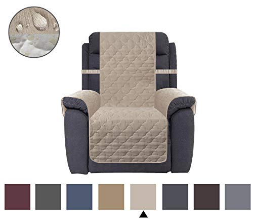 No Arm Recliner Chair - CHHKON Waterproof Nonslip Recliner Cover Stay in Place, Dog Couch Chair Cover Furniture Protector, Ideal Loveseat Slipcovers for Pets and Kids