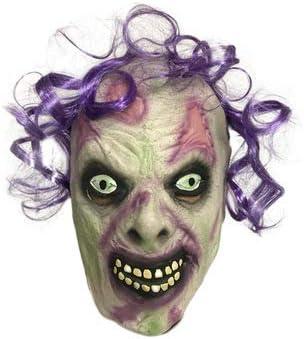 ZJSIM Halloween Diavolo Clown Maschera Horror Cosplay Costumi Male Parrucca Viola, Maschera Clown: Amazon.es: Juguetes y juegos