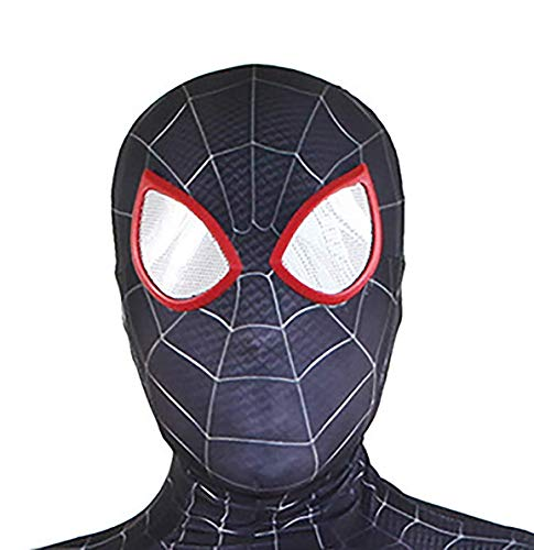 DAELI Into Spider-Verse Costume Miles Morales Costume (Miles MASK, Kids -