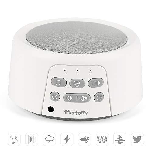 Skatolly Sleep Sound Machine, White Noise Machine White Noise Sound Machine with 24 High Fidelity Sounds, Mini White Noise Machine Portable, Soft White Noise Machine Suitable for Kids and Adults