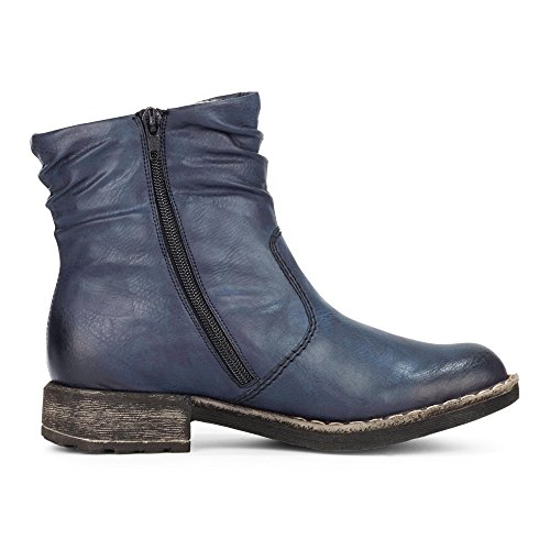 rieker 74673-15 Womens Boot Blue 2YP6FMnMq