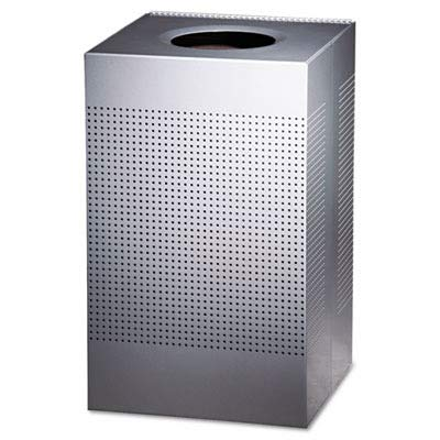 RCPSC18EPLSM Designer Line Silhouettes Receptacle, Steel, 29 gal, Silver Metallic Designer Line Silhouettes Receptacle