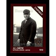 1994 Conlon Burgundy # 1192 Umpires Albert Orth (Baseball Card) Dean's Cards 8 - NM/MT