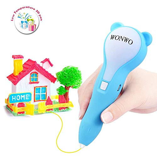 Wonwo 3D Pen Low Temperature 3D Printing Pen for Kids and Adults 3D Drawing Pen for Doodling and Painting Arts and Crafts with PCL Filaments Included ()