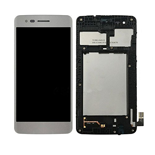 - LCD display Digitizer Touch Screen Assembly For LG M210 MS210 Aristo LV3 K8 2017 (Silver w/ Frame)
