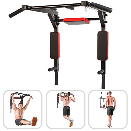 Wall Mounted Pull Up Bar - Pullup Bar Wall Mount - Chin Up Bar - Pull Up Bars and Dip Bar - Pullup and Dip Bar - Dip Station Pull Bar - Pullup Bars Outdoor and Home Room or Garage Gym Multi Grip - Pul by BAR2FIT QUALITY SPORTS EQUIPMENT (Image #9)