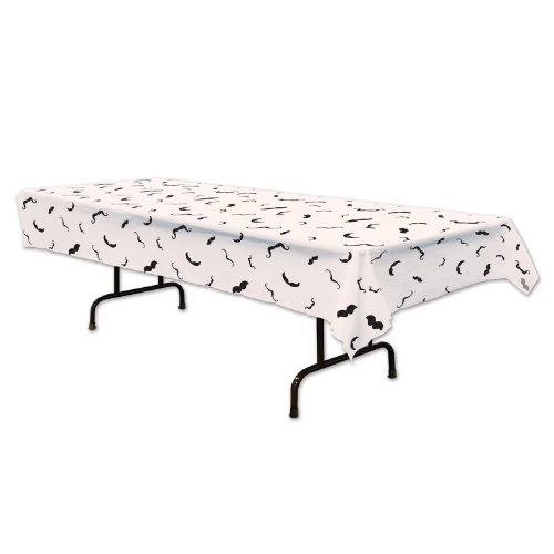 (Beistle 54097 Moustache Tablecover, 54 by)