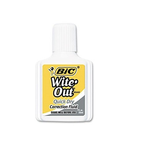 Bic Wite-Out Quick Dry Correction Fluid, 20ml Bottle, White (168 Count)