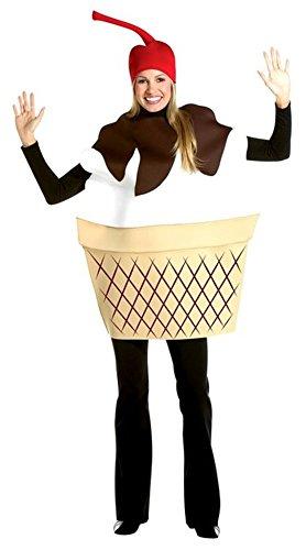 Ice Cream Fancy Dress Costume (Adult Ice Cream Sundae Costume)