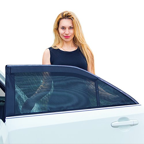 FARSON ® - Universal Fit Car Side Window Sun Shade (2 Pieces) for Baby Sun Protection. Car Window Shade Without...