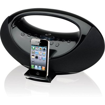 iLive IBP301B Portable Boombox with Docking Station for iPhone,iPod and Digital Tune FM Stereo Radio, Black by iLive