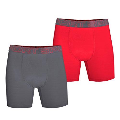 Watson's Boy's 2 Pack Pro Sport Performance Underwear, Multi, Large by Watson's