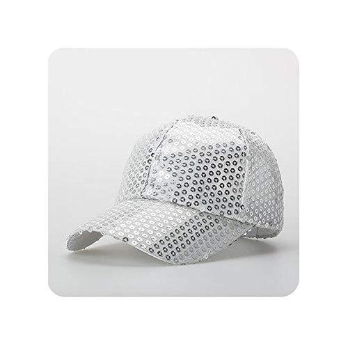 Encounter_meet Fashion Fancy Funny Shiny Baseball Hip Hop Hat Glitter Glitter Dance Party Caps,Silver]()