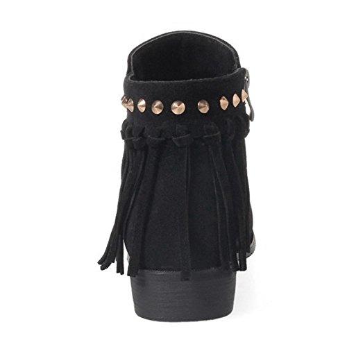 Coolcept Women Fashion Bootie Side Zipper Black-1 zkD6iRtLh5
