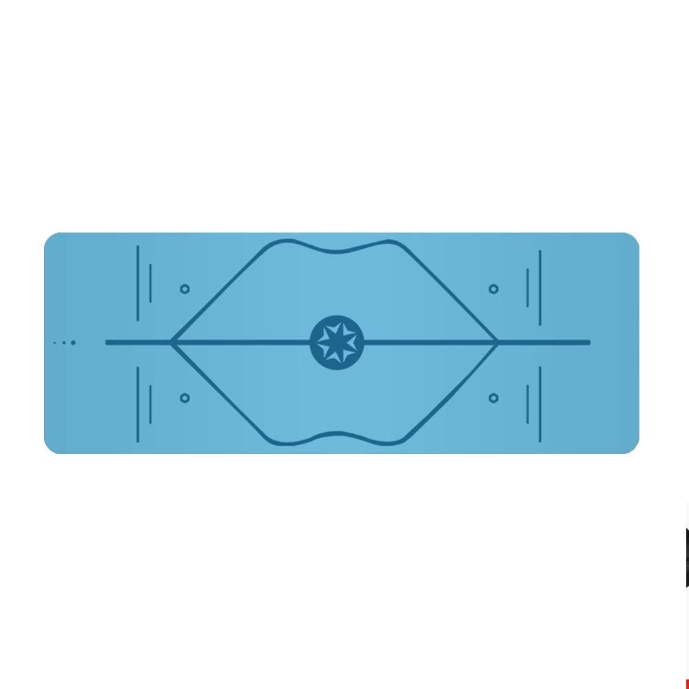 DGLIYJ 滑り止めヨガ男性滑り止め男性と女性のサイズ183センチ×68センチ天然ゴム初心者女性プロヨガフィットネスマット (色 : Sky blue, サイズ さいず : Canvas bag) Canvas bag Sky blue B07Q6S422X
