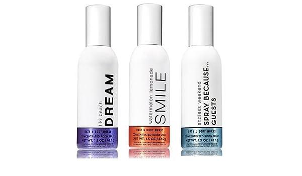 Baño y Cuerpo funciona 3 Pack Verano favoritos concentrado Spray ...