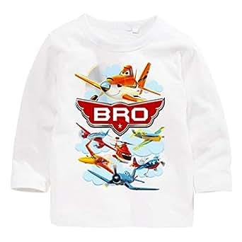 Disney Planes Bro Family Matching Birthday Long-Sleeve T-Shirt 4 Years