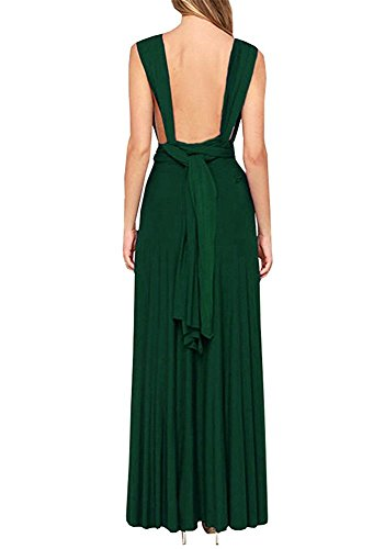 Green Maxi Women PARTY Wrap Dress LADY Bandage Multi Bridesmaid Boho Cocktail Sexy Dress Halter Convertible Way Long Dress AYFnfqTFw