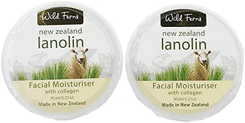 Wild Ferns Lanolin and Collagen Facial Moisturizer 2 Pack