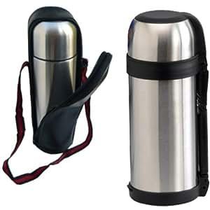 1.5L acero inoxidable HOT fiambrera con forma de botella termo al vacío para frío N THERMOS DRINK TEA COFFEE
