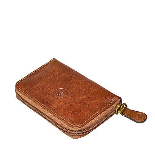 Leather Key Vinci Scott Wallet Full Luxury Handcrafted Maxwell Classic Italian Grain The Tan HYaAaqw