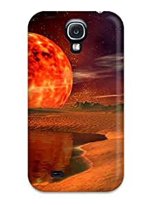 Hard Plastic Galaxy S4 Case Back Cover,hot Burning Moon Case At Perfect Diy