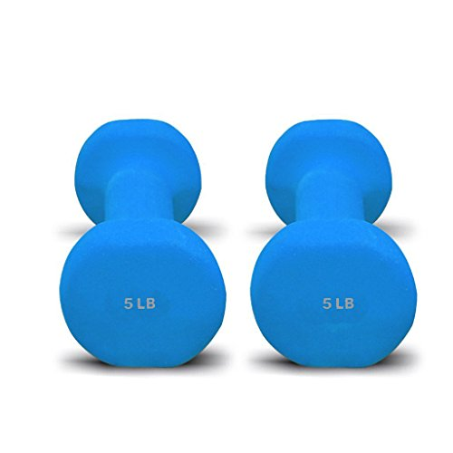 Bespolitan Sports Pair of Dumbbells with Non-Slip Grip, Choose Your Dumbbell Weight