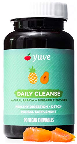 - Yuve Natural Papaya Chewable Digestive Enzymes - Promotes Better Digestion - Tastes Delicious - Helps with Constipation, Bloating, Detox, Leaky Gut & Gas Relief - Vegan, Non-GMO, Gluten-Free - 90ct