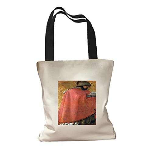 St Augustine (Masaccio) Canvas Colored Handles Tote Bag - - St Augustine Center Shopping
