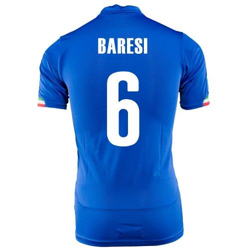 甘くする取得曲PUMA BARESI #6 ITALY HOME JERSEY WORLD CUP 2014/サッカーユニフォーム イタリア ホーム用 ワールドカップ2014 背番号6 バレージ