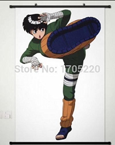 Naruto Rock Lee Home Decor Anime Japanese Poster Wall Scroll