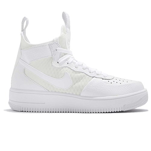 Nike Womens Wmns Air Force 1 Ultraforce Mid, White / White-white White / White-white